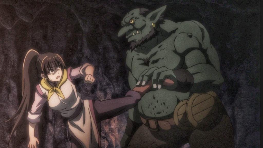 Hob beating a women adventurer