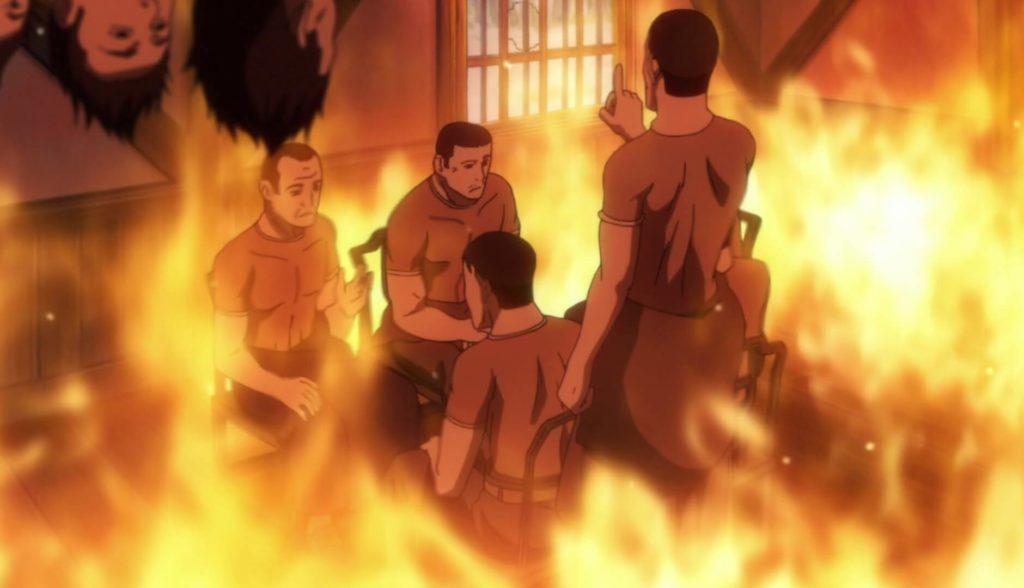 Corps burning