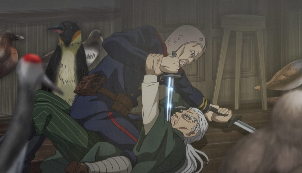 Nikaidou trying to kill hijikata