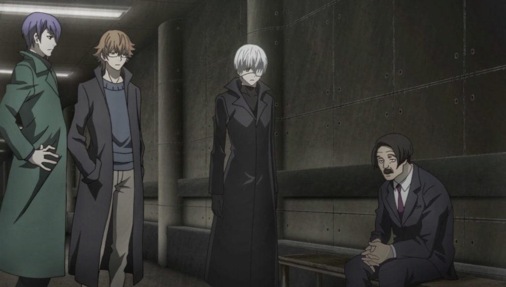 Kaneki talking with Ogura